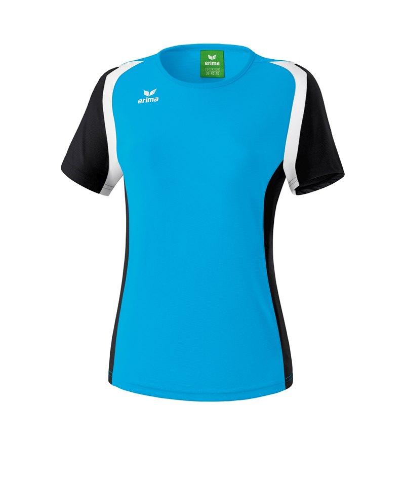 Erima T.Shirt Razor 2.0 Damen Hellblau Schwarz - blau
