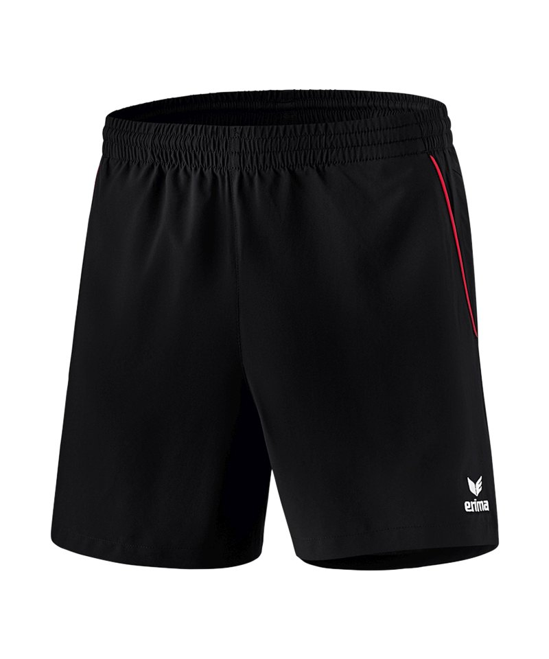 Erima Tischtennis Short Schwarz Rot - schwarz