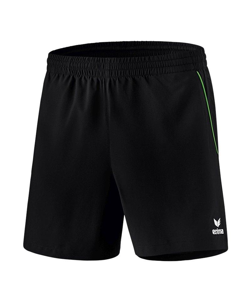 Erima Tischtennis Short Schwarz Grün - schwarz