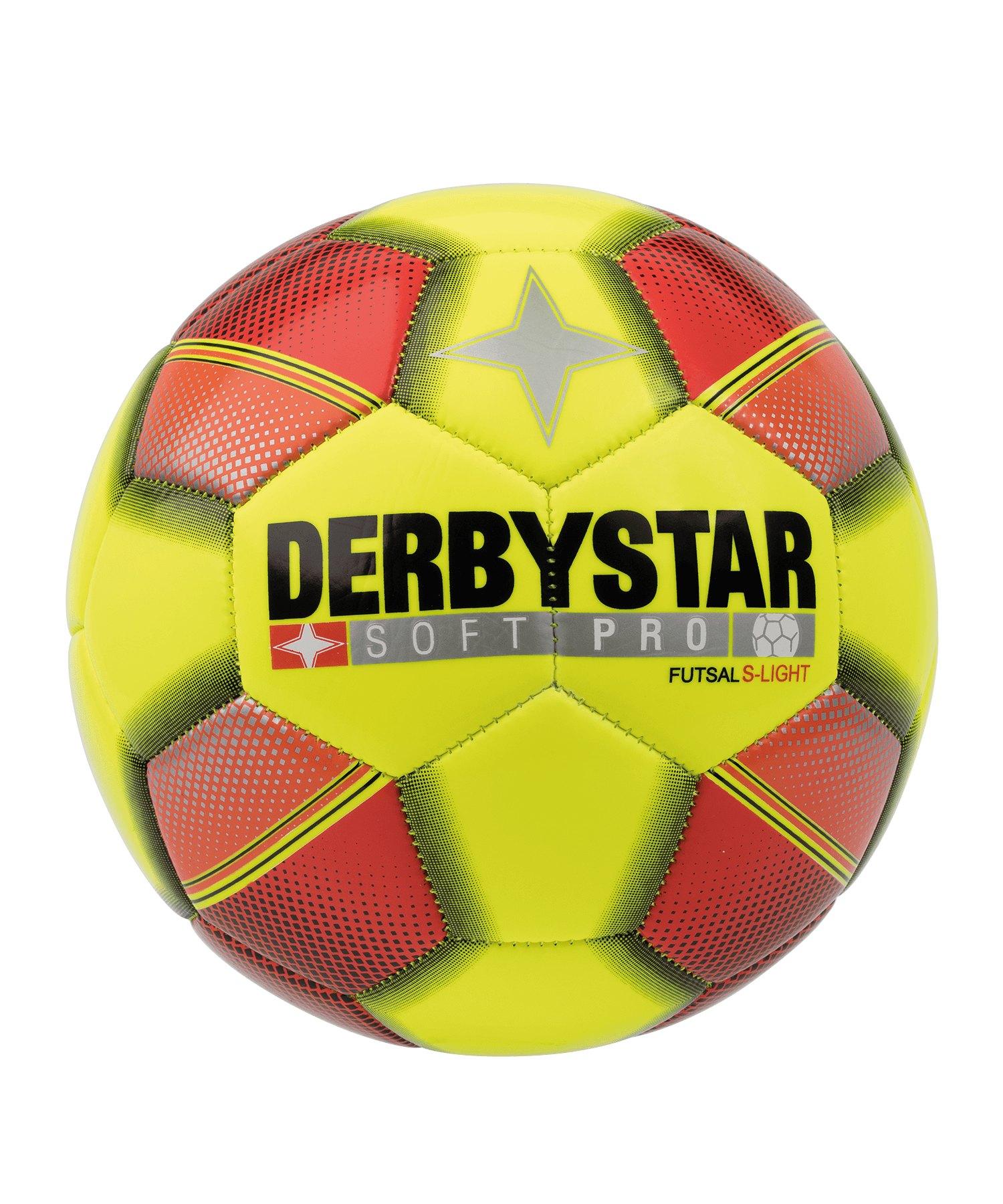 Derbystar Futsal Soft Pro S-Light Fussball F533 - gelb