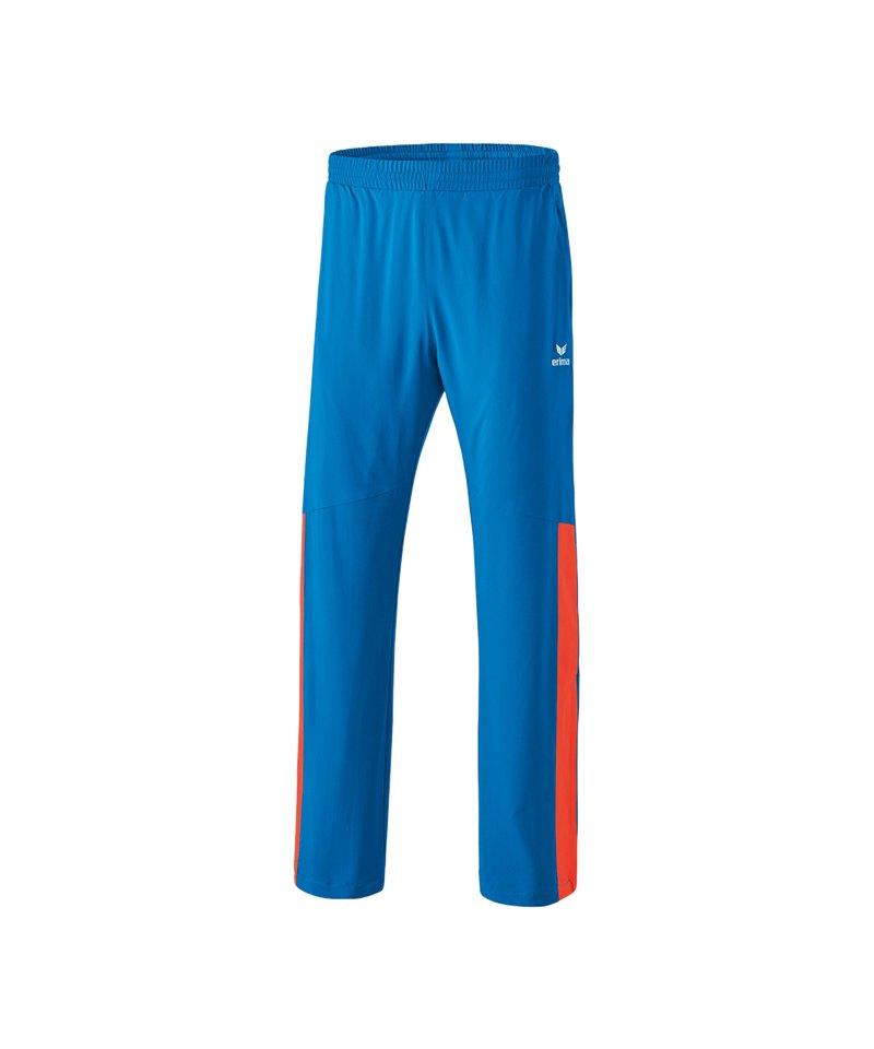 Erima Masters Präsentationshose Blau Orange - blau