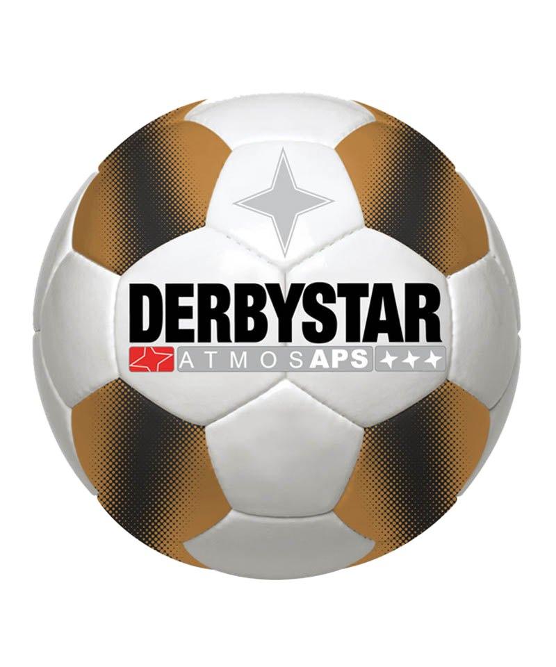 Derbystar Spielball Atmos APS Weiss Braun - weiss