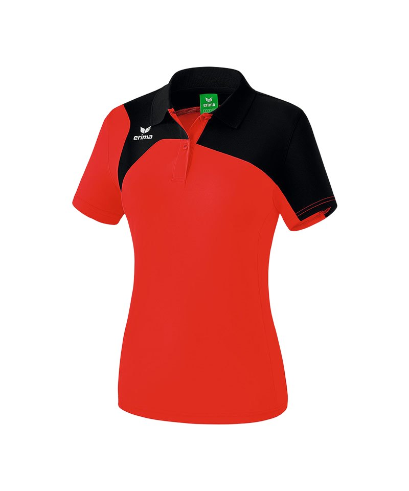 Erima Poloshirt Club 1900 2.0 Damen Rot Schwarz - rot