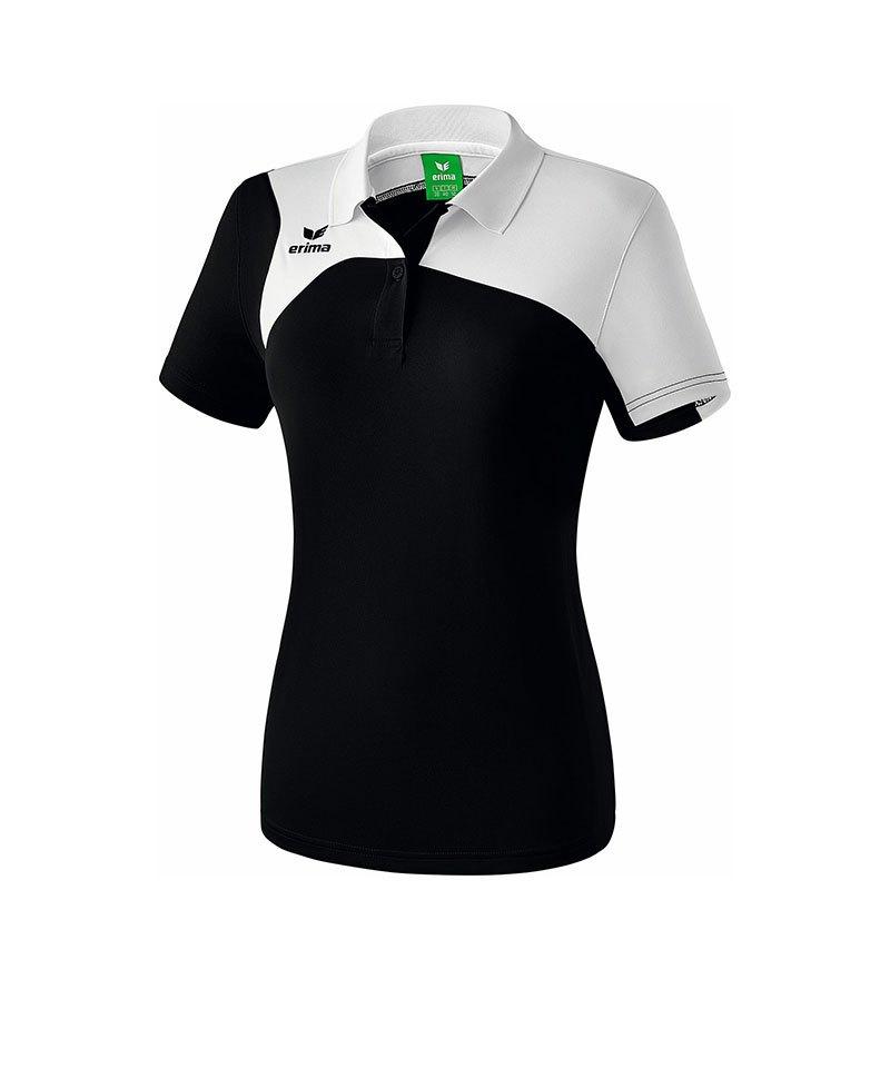 Erima Poloshirt Club 1900 2.0 Damen Schwarz Weiss - schwarz