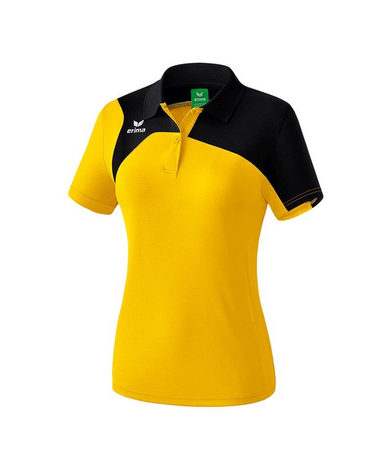 Erima Poloshirt Club 1900 2.0 Damen Gelb Schwarz - gelb
