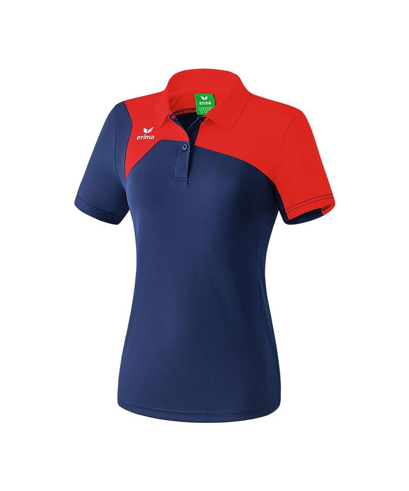Erima Poloshirt Club 1900 2.0 Damen Blau Rot - blau