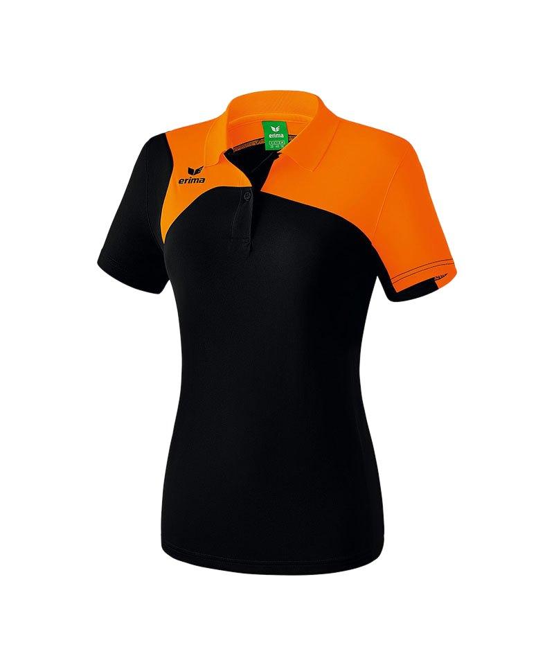 Erima Poloshirt Club 1900 2.0 Damen Schwarz Orange - schwarz