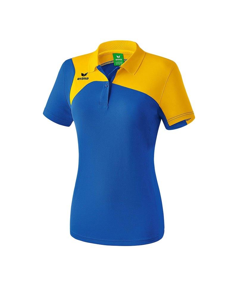 Erima Poloshirt Club 1900 2.0 Damen Blau Gelb - blau