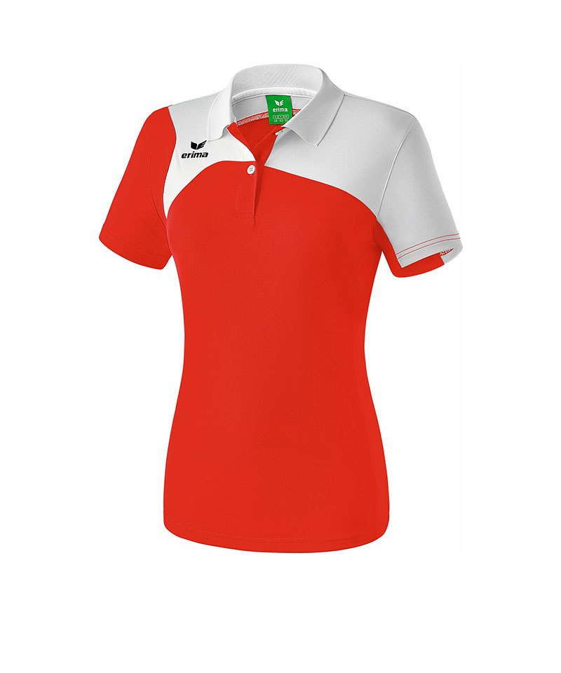 Erima Poloshirt Club 1900 2.0 Damen Rot Weiss - rot