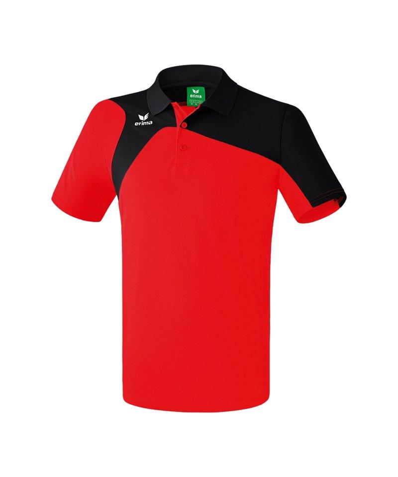 Erima Poloshirt Club 1900 2.0 Rot Schwarz - rot