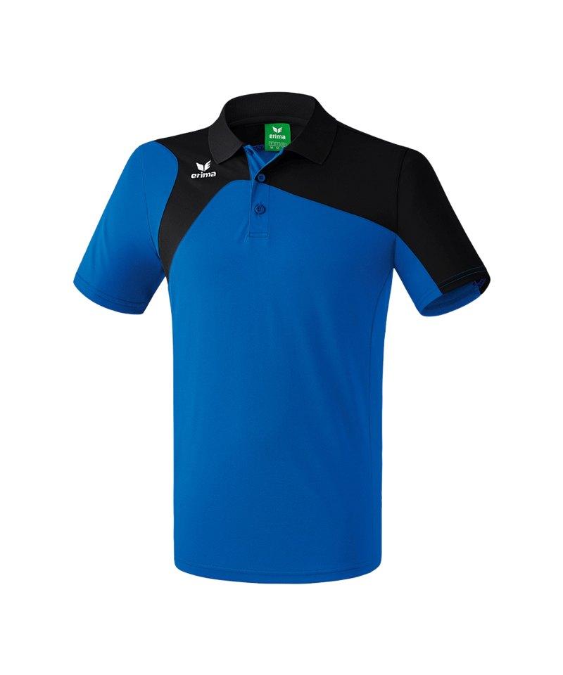 Erima Poloshirt Club 1900 2.0 Blau Schwarz - blau