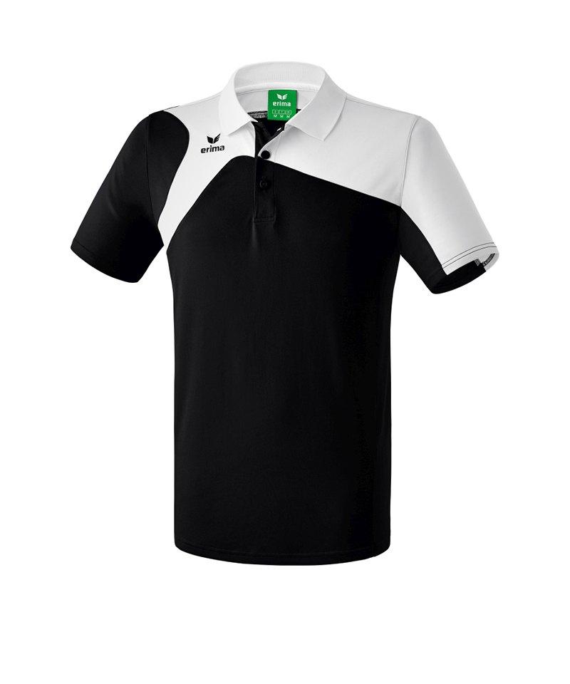Erima Poloshirt Club 1900 2.0 Kinder Schwarz Weiss - schwarz