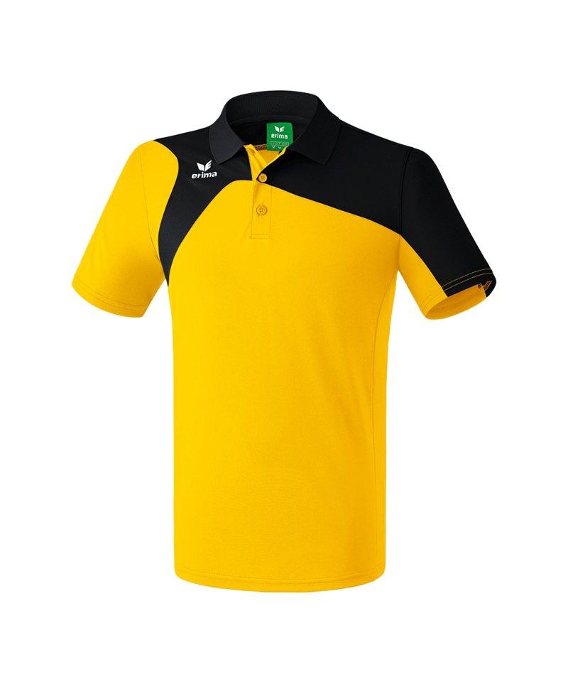 Erima Poloshirt Club 1900 2.0 Gelb Schwarz - gelb