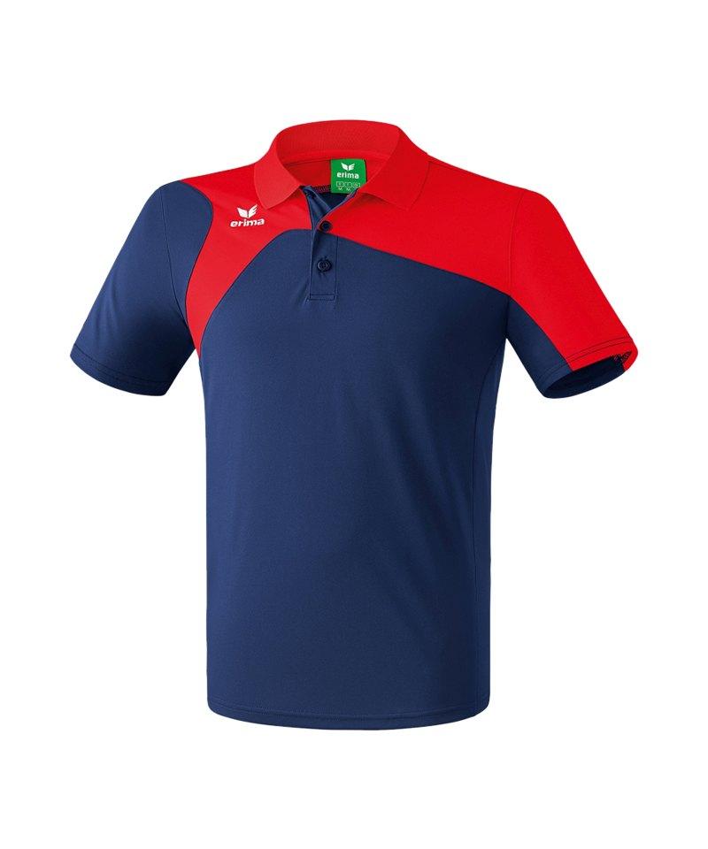Erima Poloshirt Club 1900 2.0 Blau Rot - blau