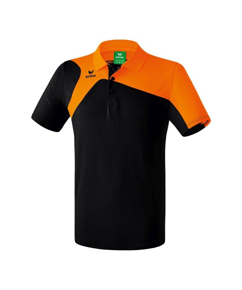 Erima Poloshirt Club 1900 2.0 Schwarz Orange - schwarz