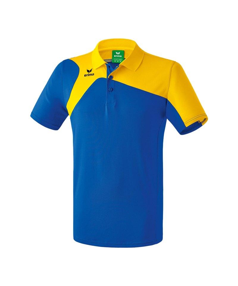 Erima Poloshirt Club 1900 2.0 Kinder Blau Gelb - blau