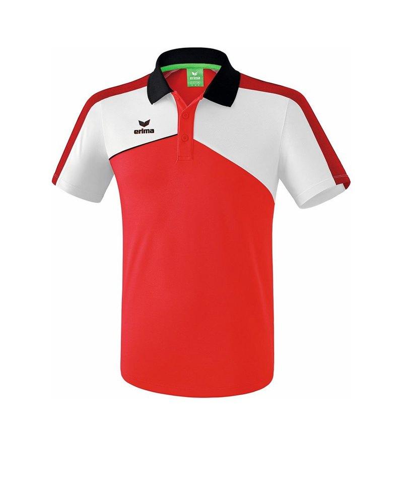 Erima Premium One 2.0 Poloshirt Kids Rot Weiss - rot