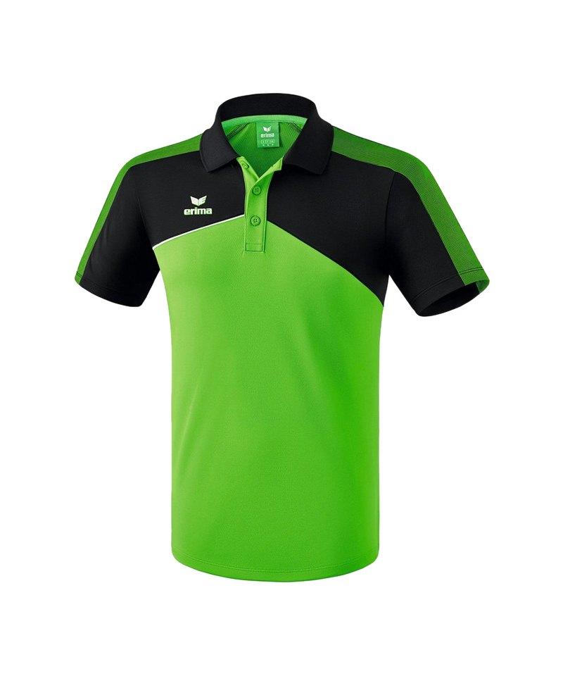 Erima Premium One 2.0 Poloshirt Grün Schwarz - gruen