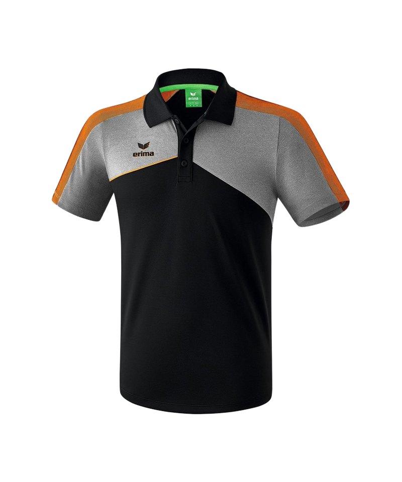 Erima Premium One 2.0 Poloshirt Kids Orange - schwarz