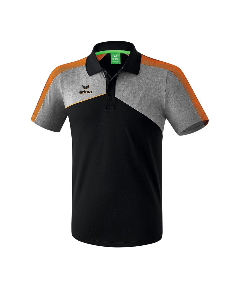 Erima Premium One 2.0 Poloshirt Schwarz Orange - schwarz