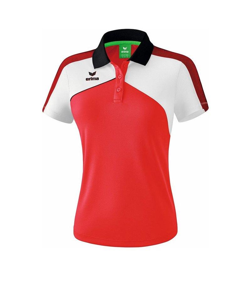Erima Premium One 2.0 Poloshirt Damen Rot Weiss - rot