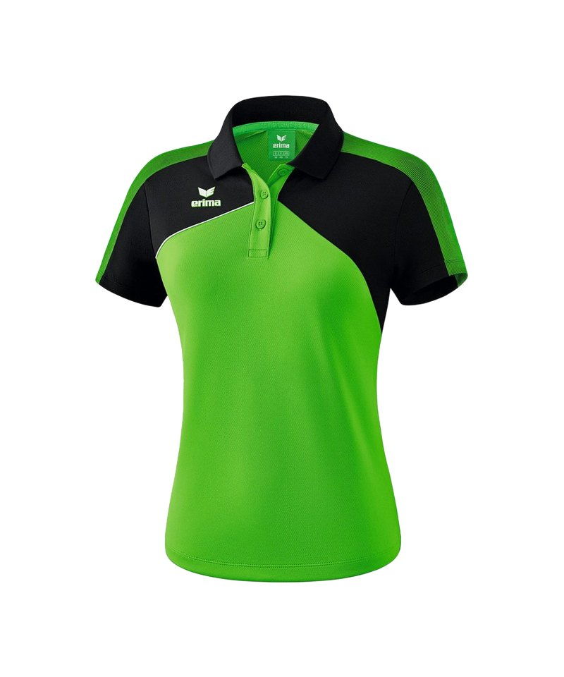 Erima Premium One 2.0 Poloshirt Damen Grün Schwarz - gruen