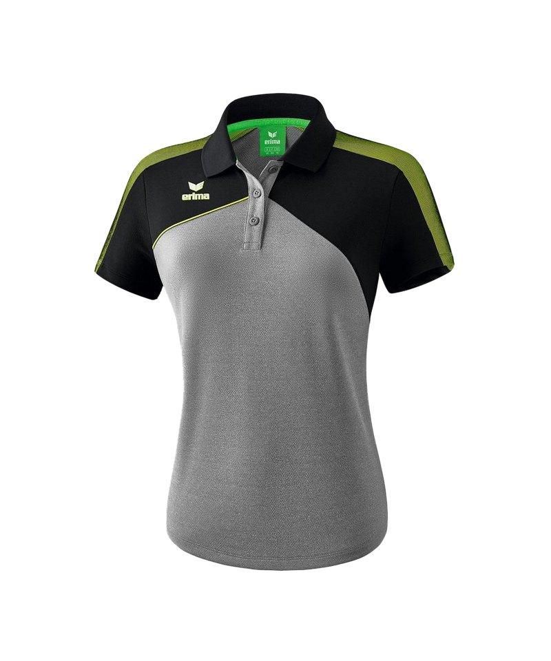Erima Premium One 2.0 Poloshirt Damen Grau Grün - grau