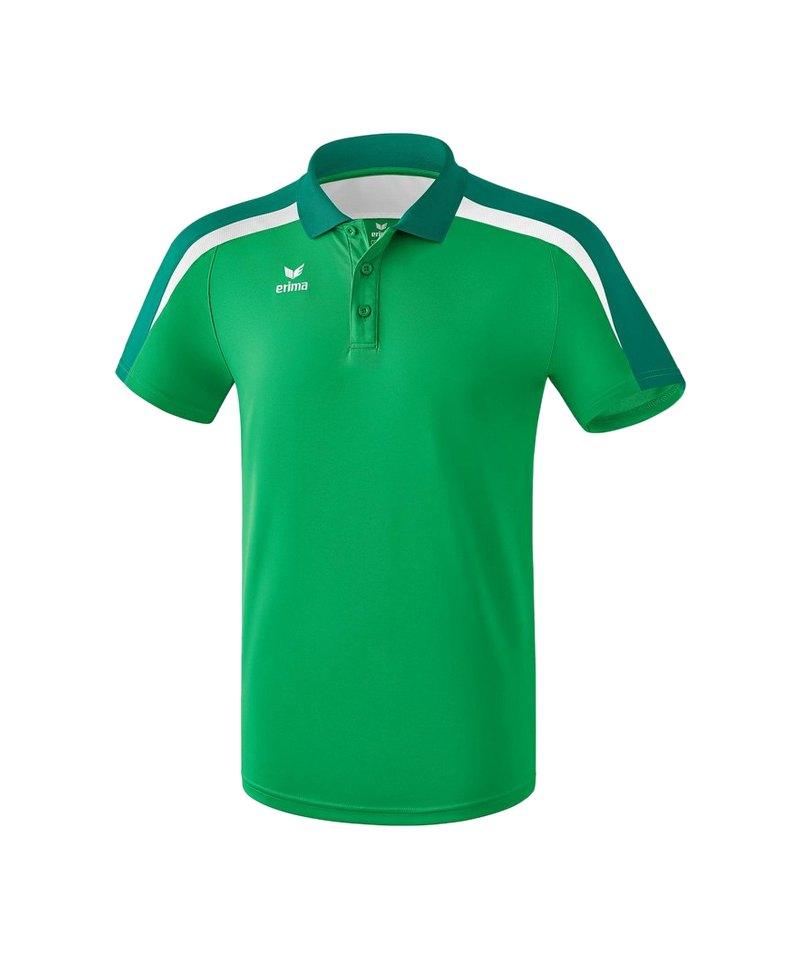 Erima Liga 2.0 Poloshirt Grün Weiss - gruen