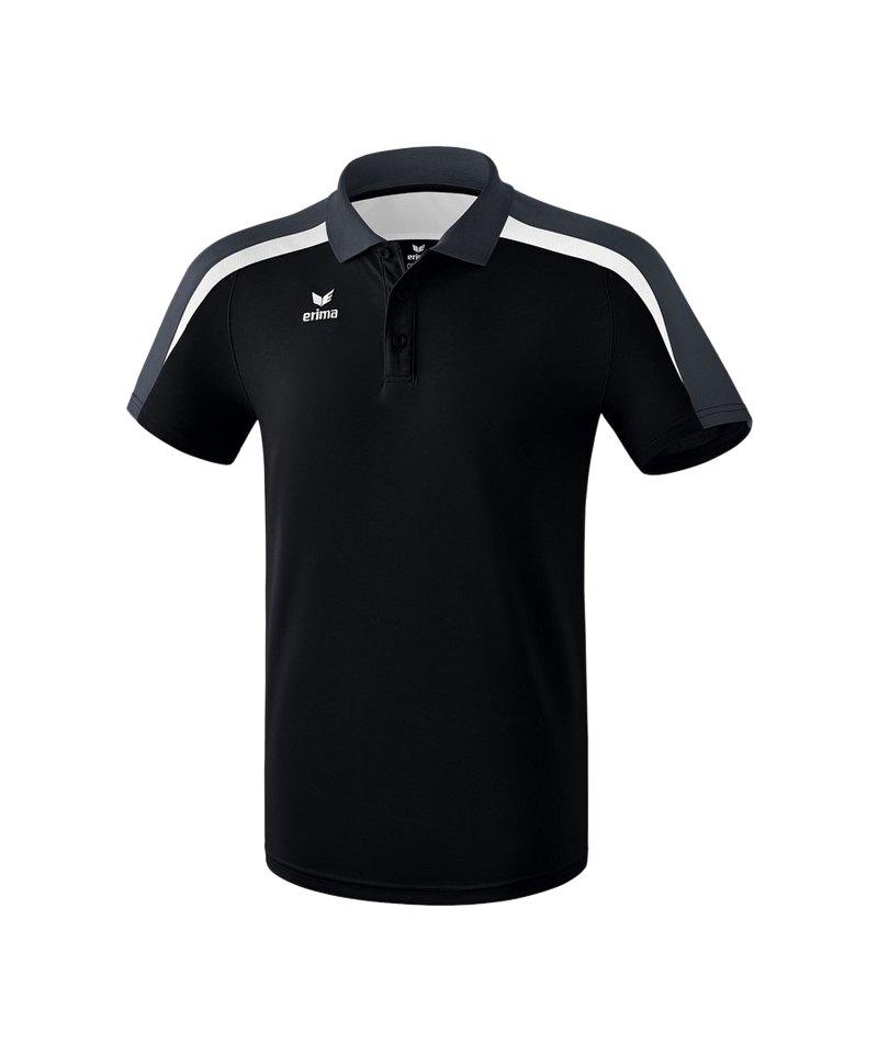 Erima Liga 2.0 Poloshirt Kids Schwarz Weiss Grau - schwarz