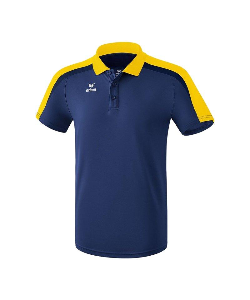 Erima Liga 2.0 Poloshirt Blau Gelb - blau