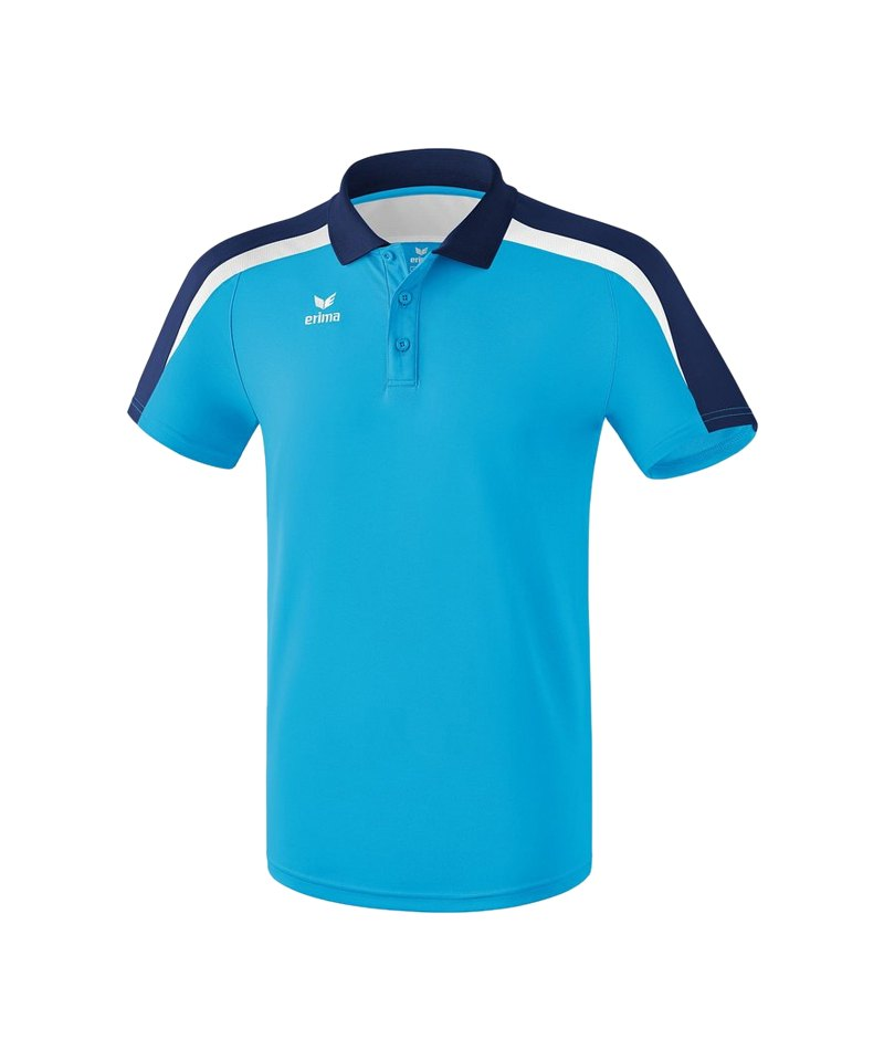 Erima Liga 2.0 Poloshirt Hellblau Blau Weiss - blau