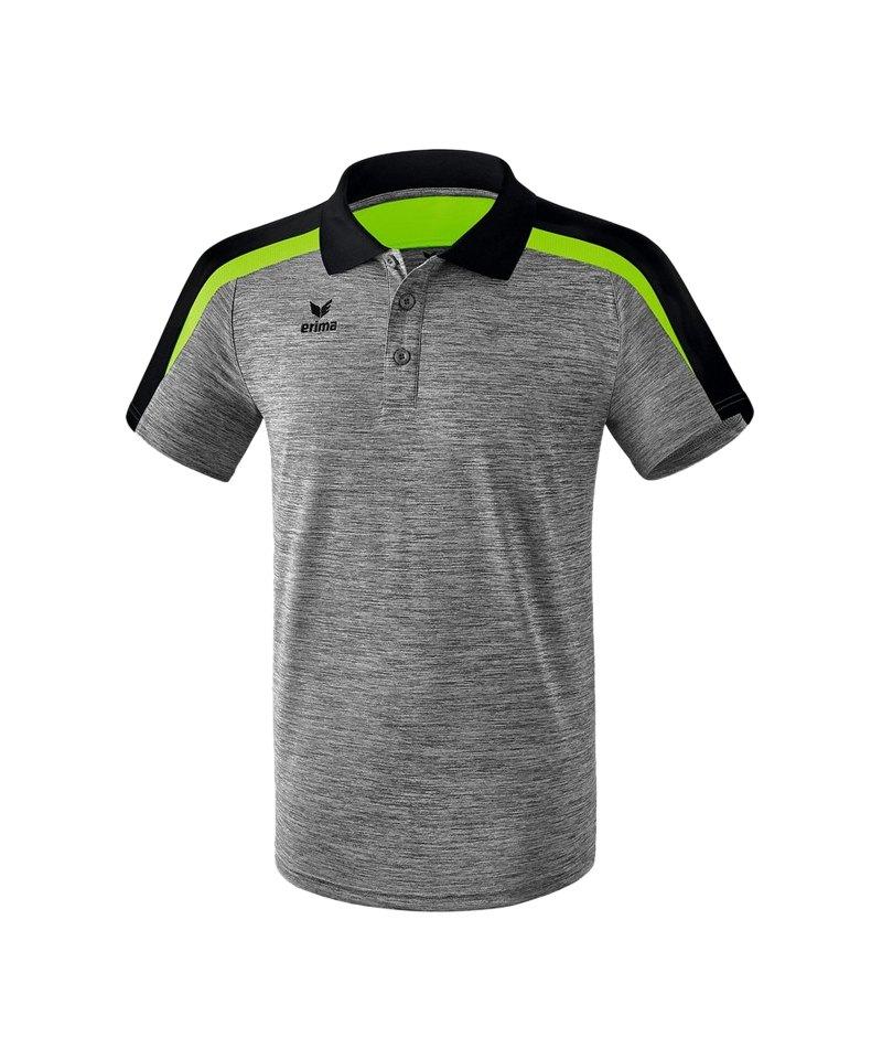 Erima Liga 2.0 Poloshirt Grau Schwarz Grün - grau