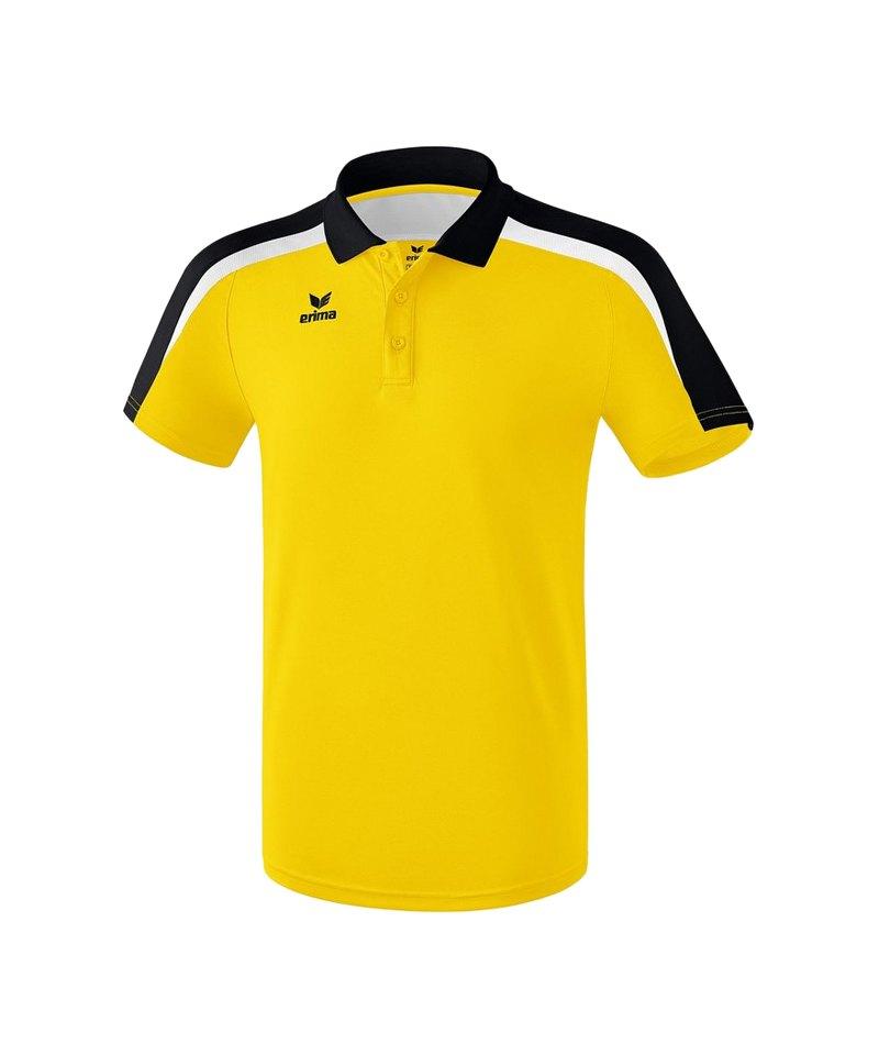 Erima Liga 2.0 Poloshirt Kids Gelb Schwarz Weiss - gelb