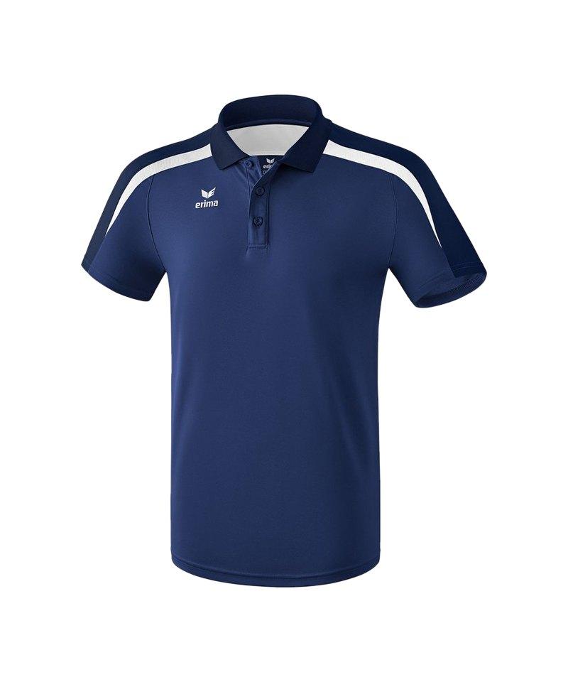 Erima Liga 2.0 Poloshirt Kids Dunkelblau Weiss - blau