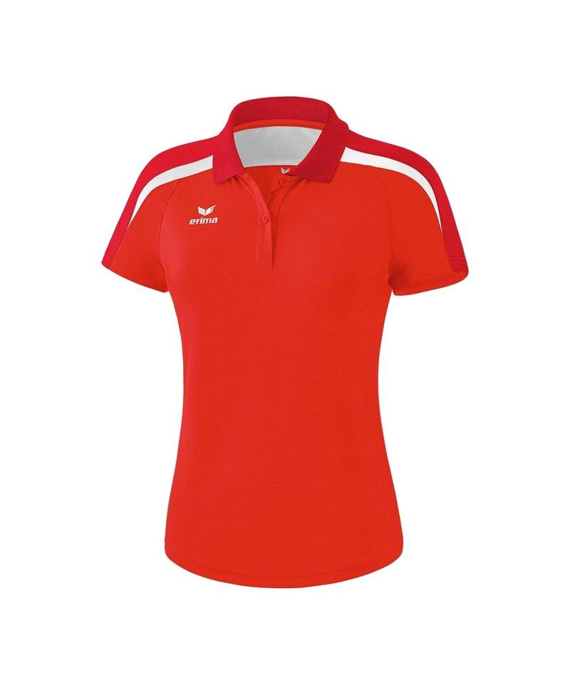 Erima Liga 2.0 Poloshirt Damen Rot Weiss - rot