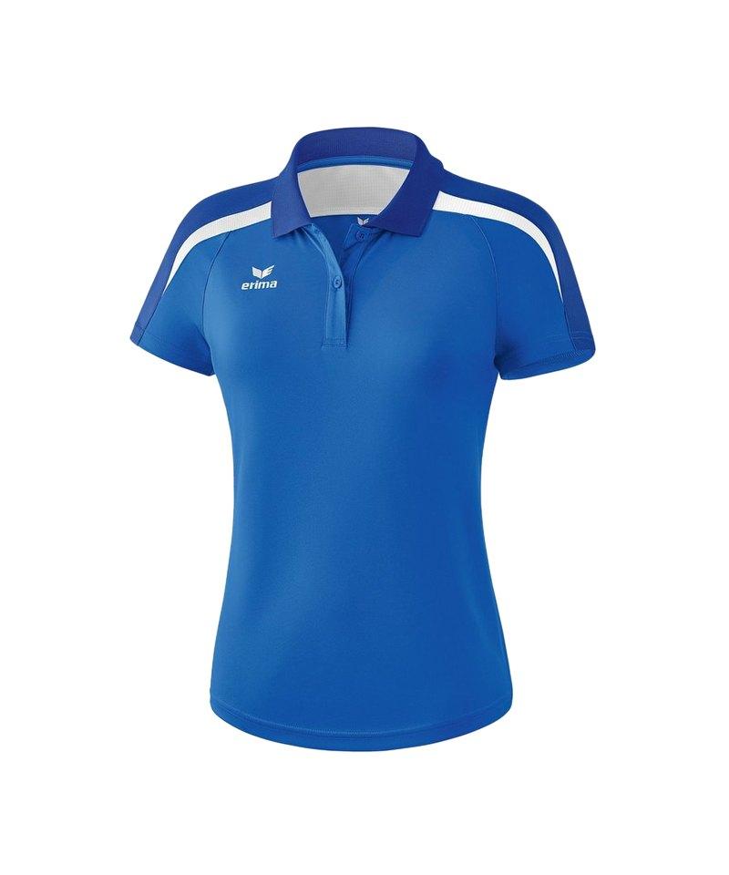 Erima Liga 2.0 Poloshirt Damen Blau Weiss - blau