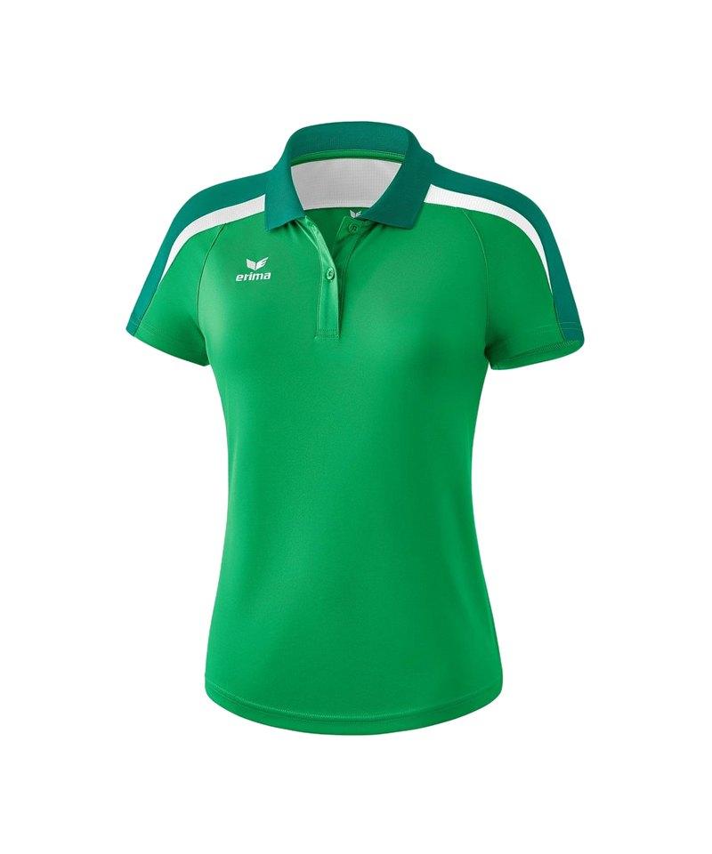 Erima Liga 2.0 Poloshirt Damen Grün Weiss - gruen