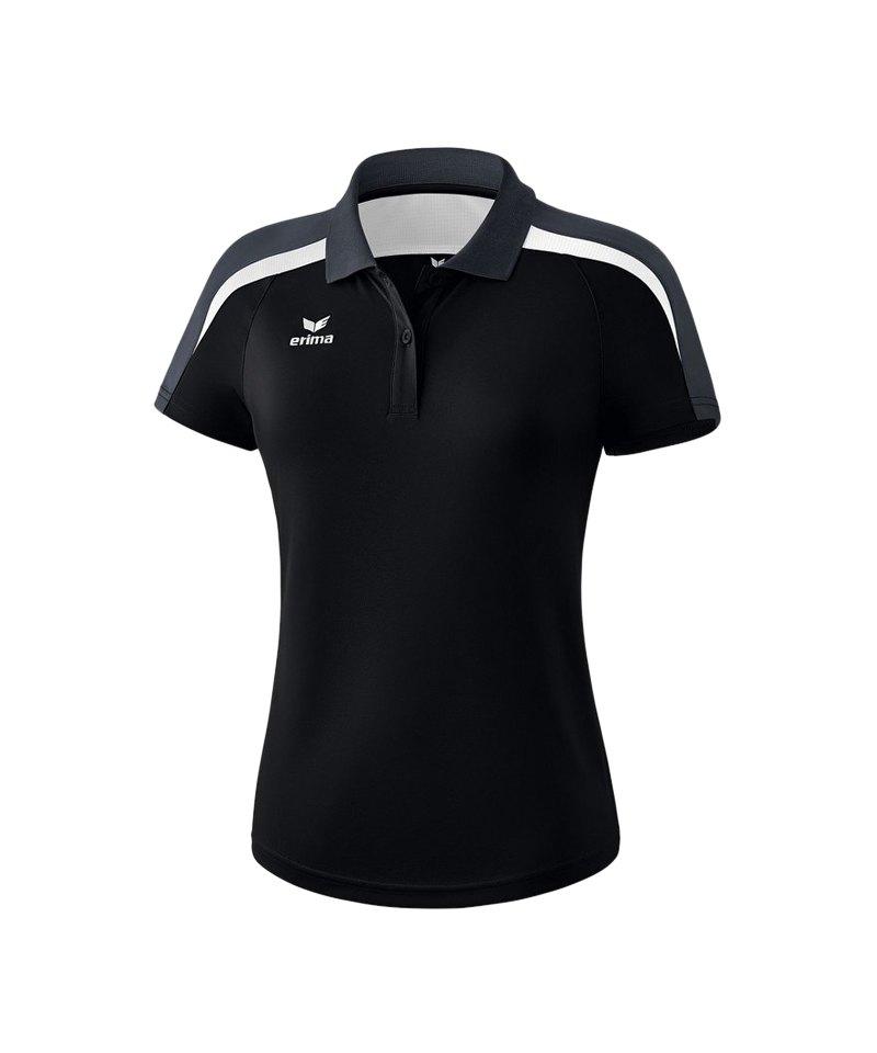 Erima Liga 2.0 Poloshirt Damen Schwarz Weiss Grau - schwarz