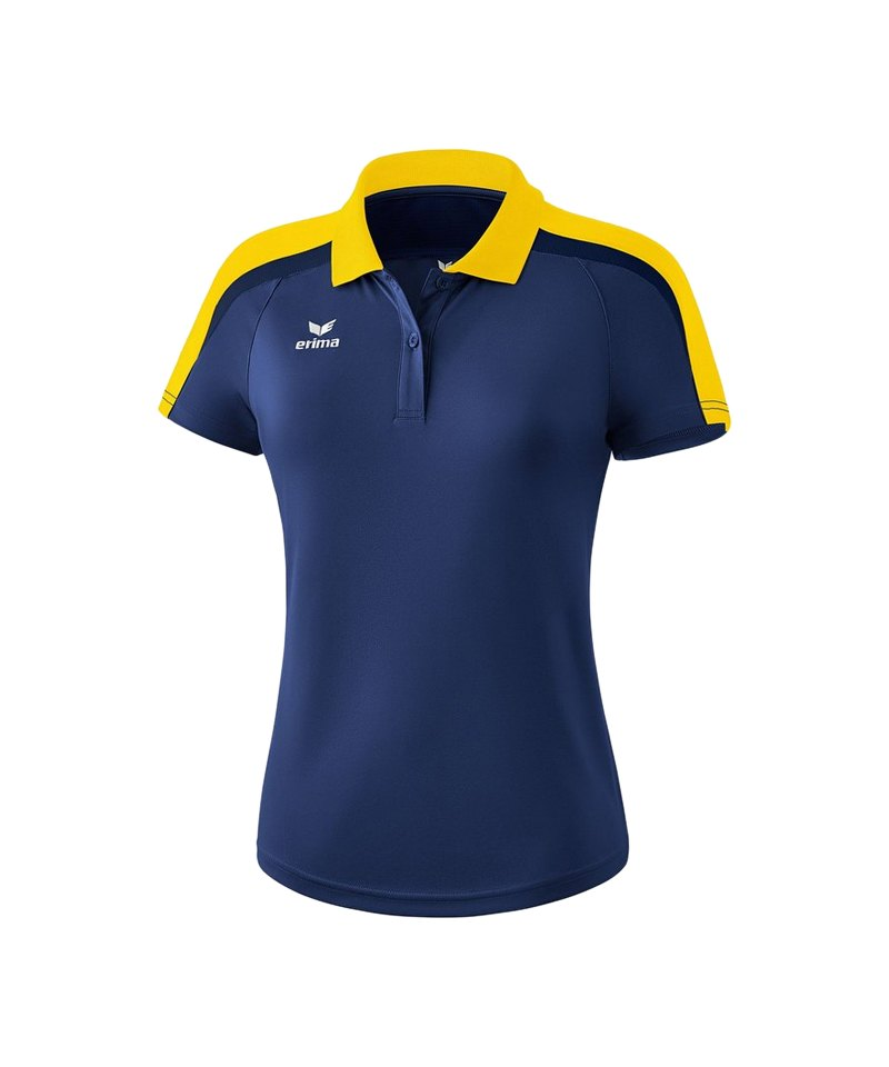 Erima Liga 2.0 Poloshirt Damen Blau Gelb - blau