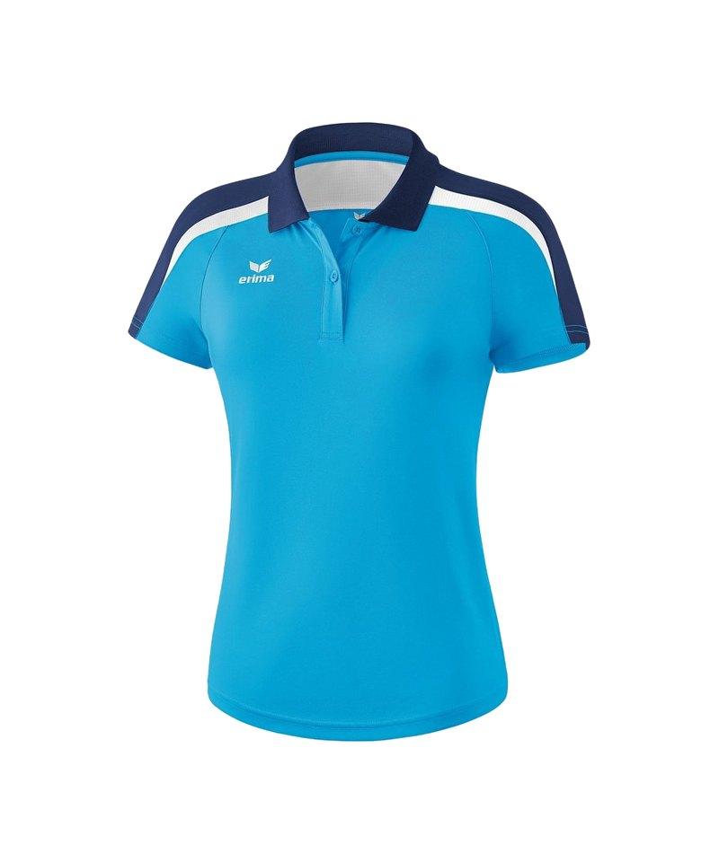 Erima Liga 2.0 Poloshirt Damen Hellblau Blau Weiss - blau