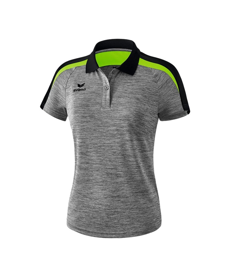 Erima Liga 2.0 Poloshirt Damen Grau Schwarz Grün - grau