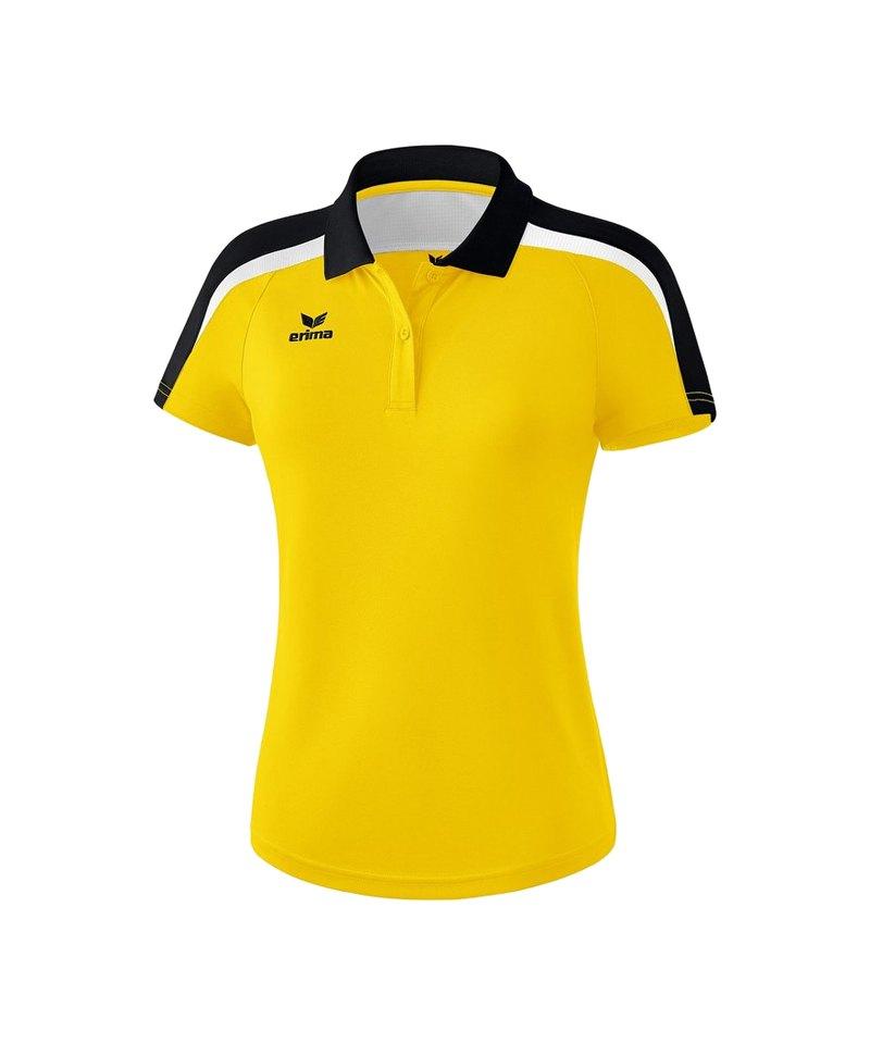 Erima Liga 2.0 Poloshirt Damen Gelb Schwarz Weiss - gelb
