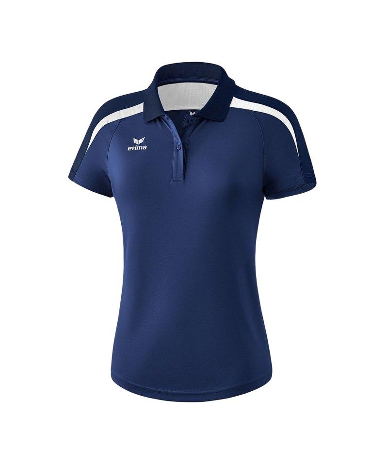 Erima Liga 2.0 Poloshirt Damen Dunkelblau Weiss - blau