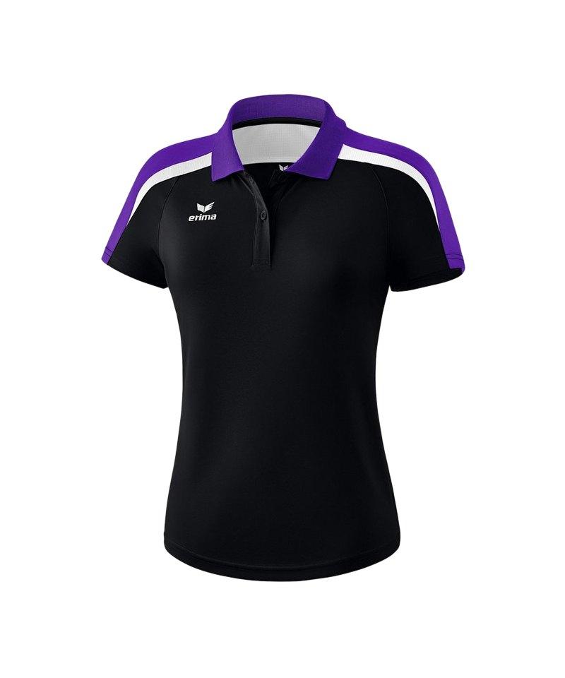 Erima Liga 2.0 Poloshirt Damen Schwarz Lila Weiss - schwarz