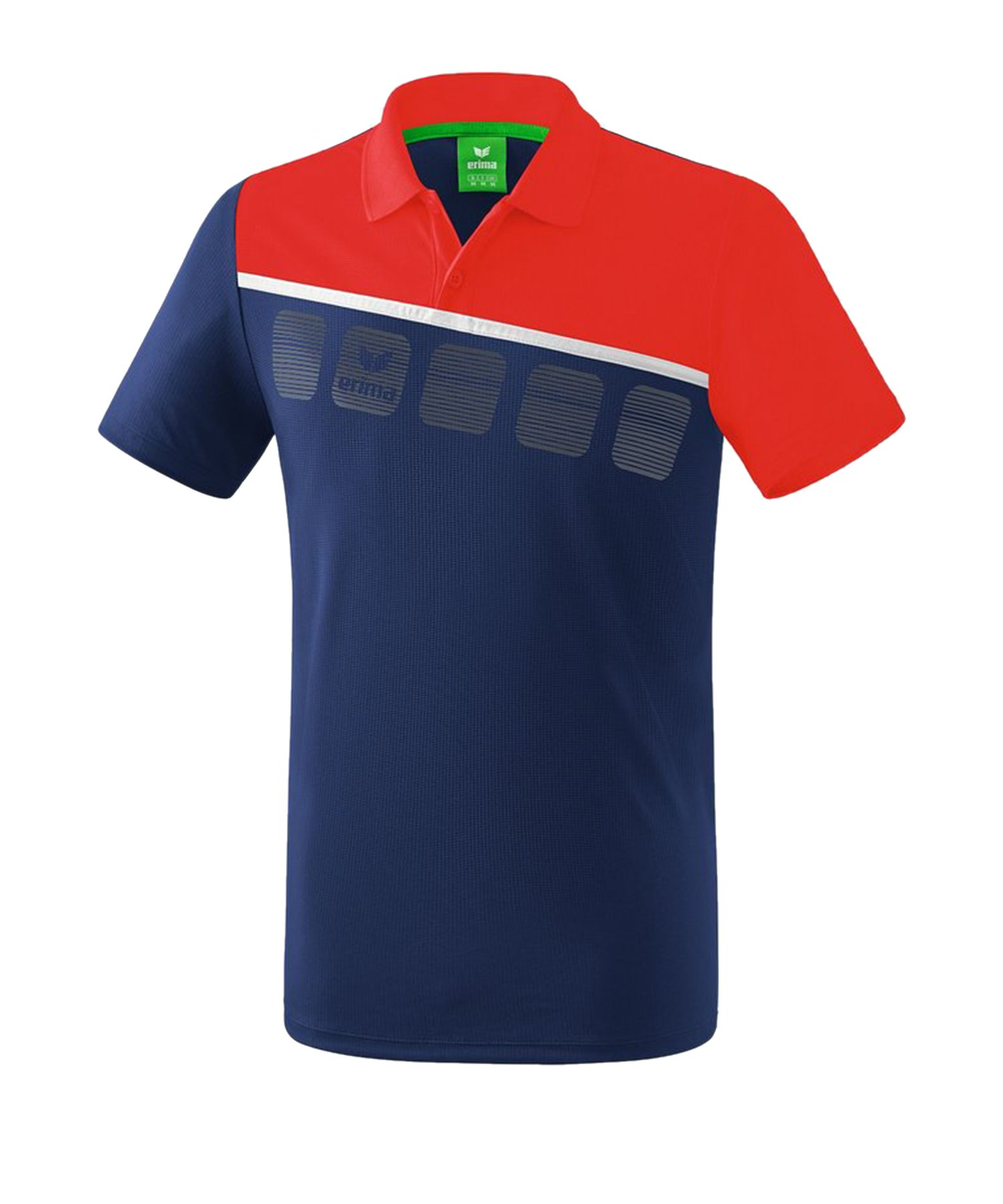 Erima 5-C Poloshirt Kids Blau Rot - Blau