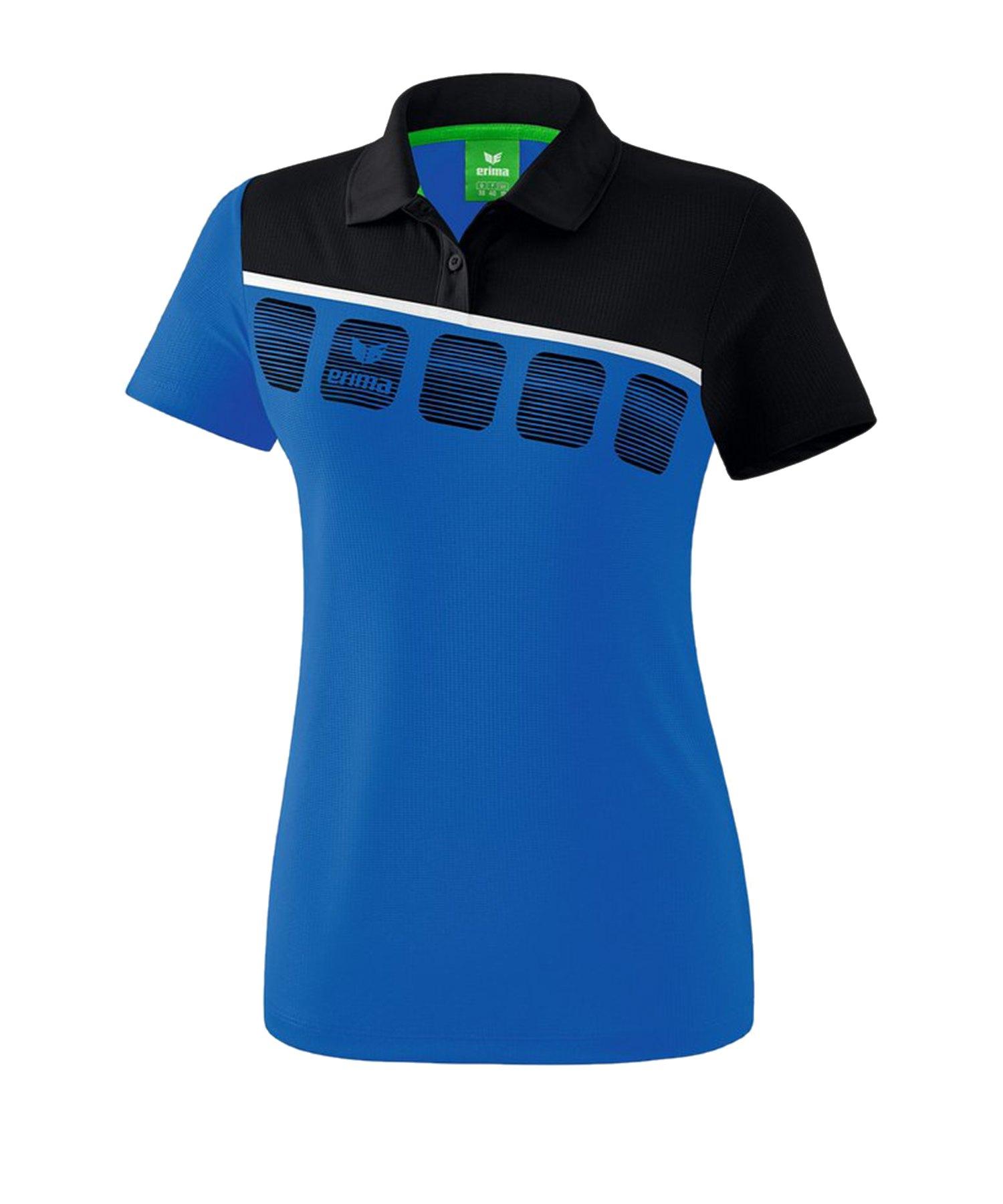 Erima 5-C Poloshirt Damen Blau Schwarz - Blau