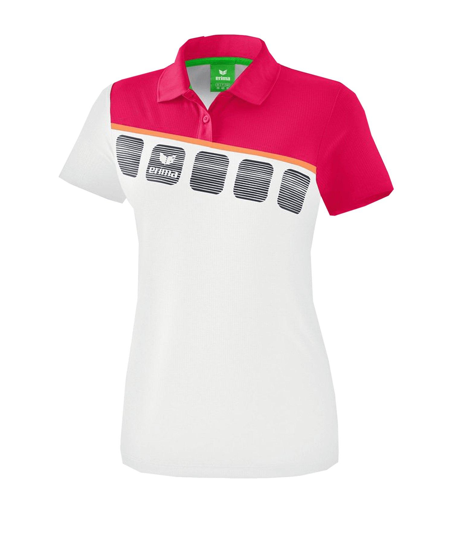 Erima 5-C Poloshirt Kids Weiss - Weiss
