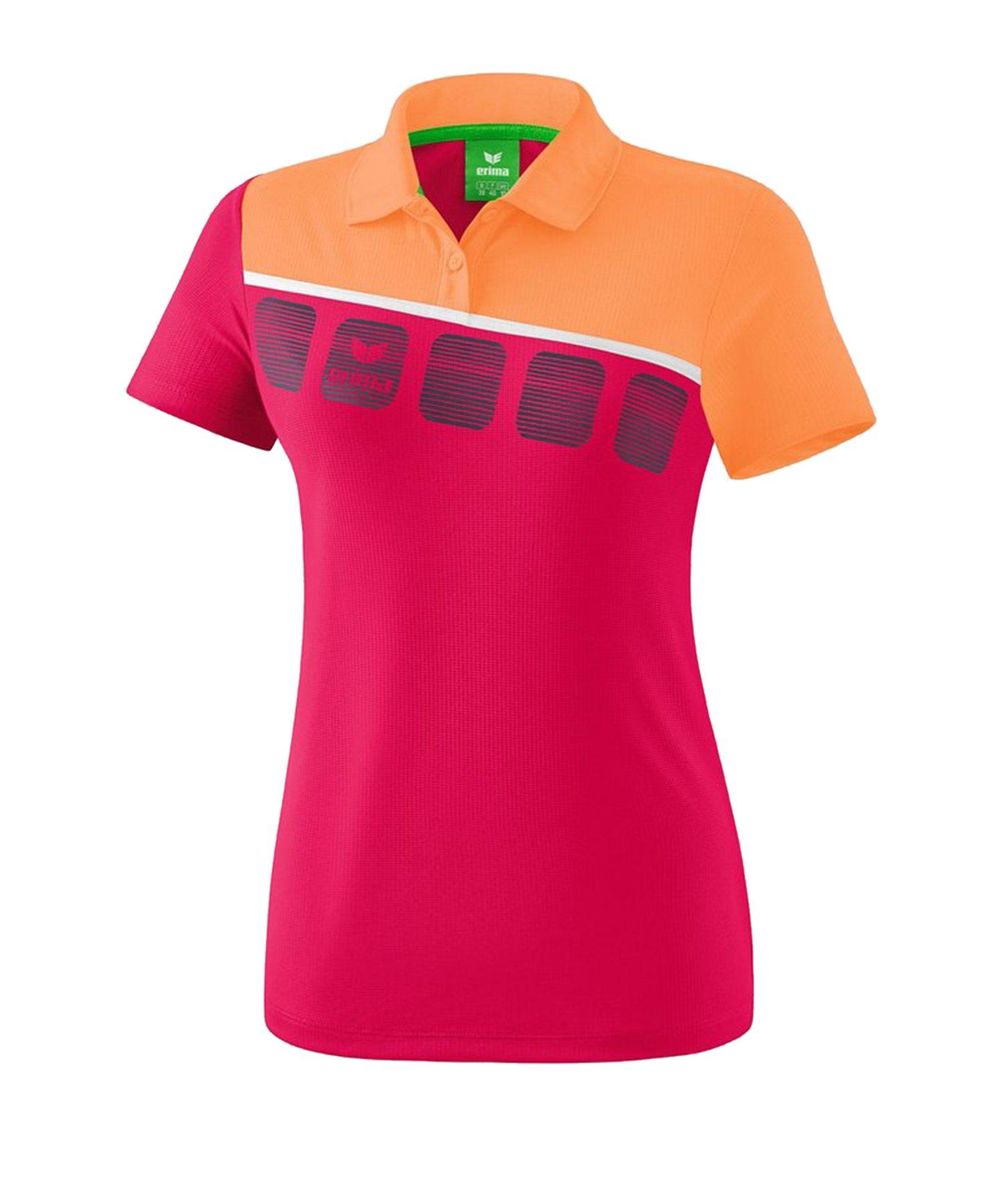 Erima 5-C Poloshirt Damen Pink Orange - Pink