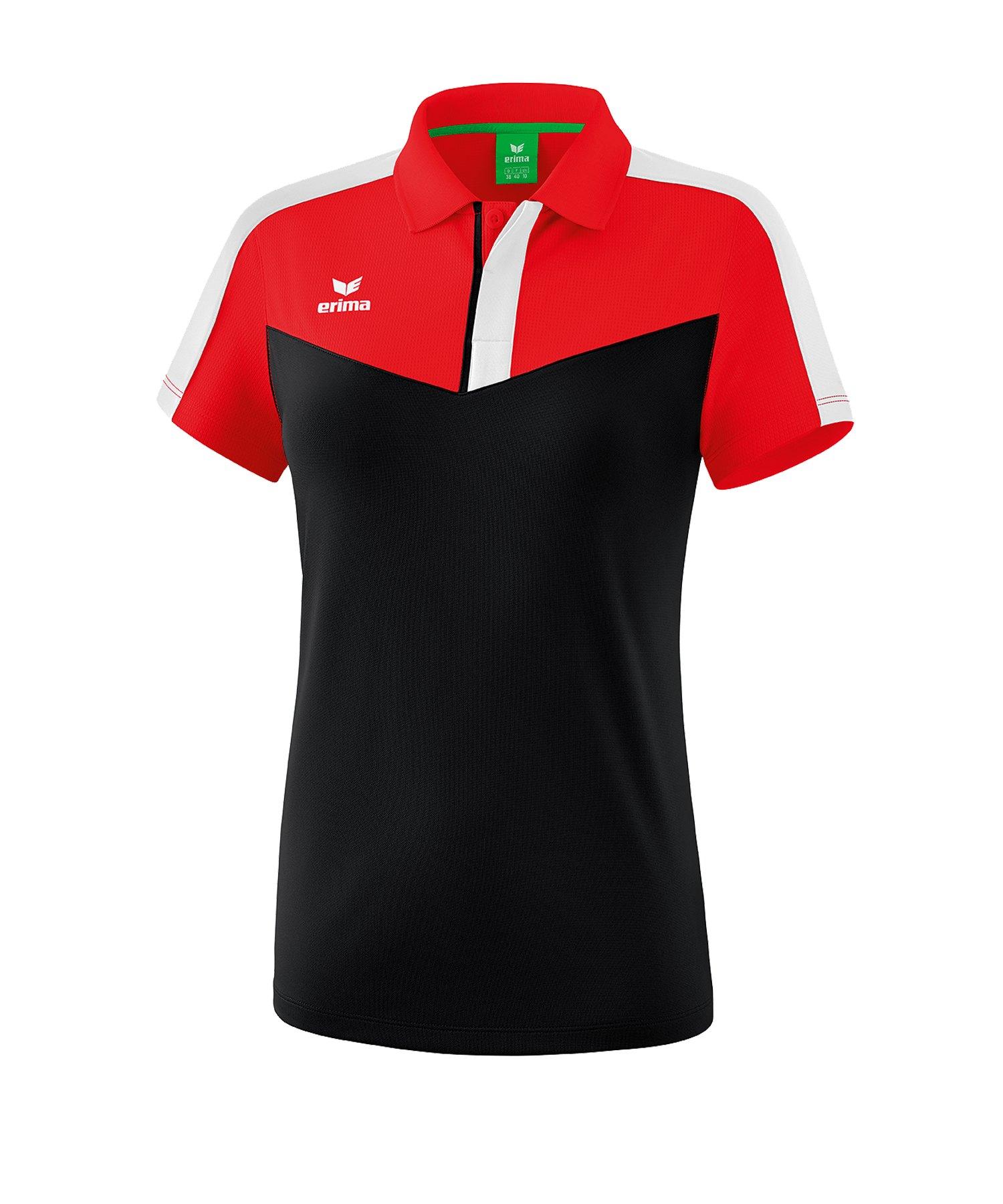 Erima Squad Poloshirt Damen Rot Schwarz - rot