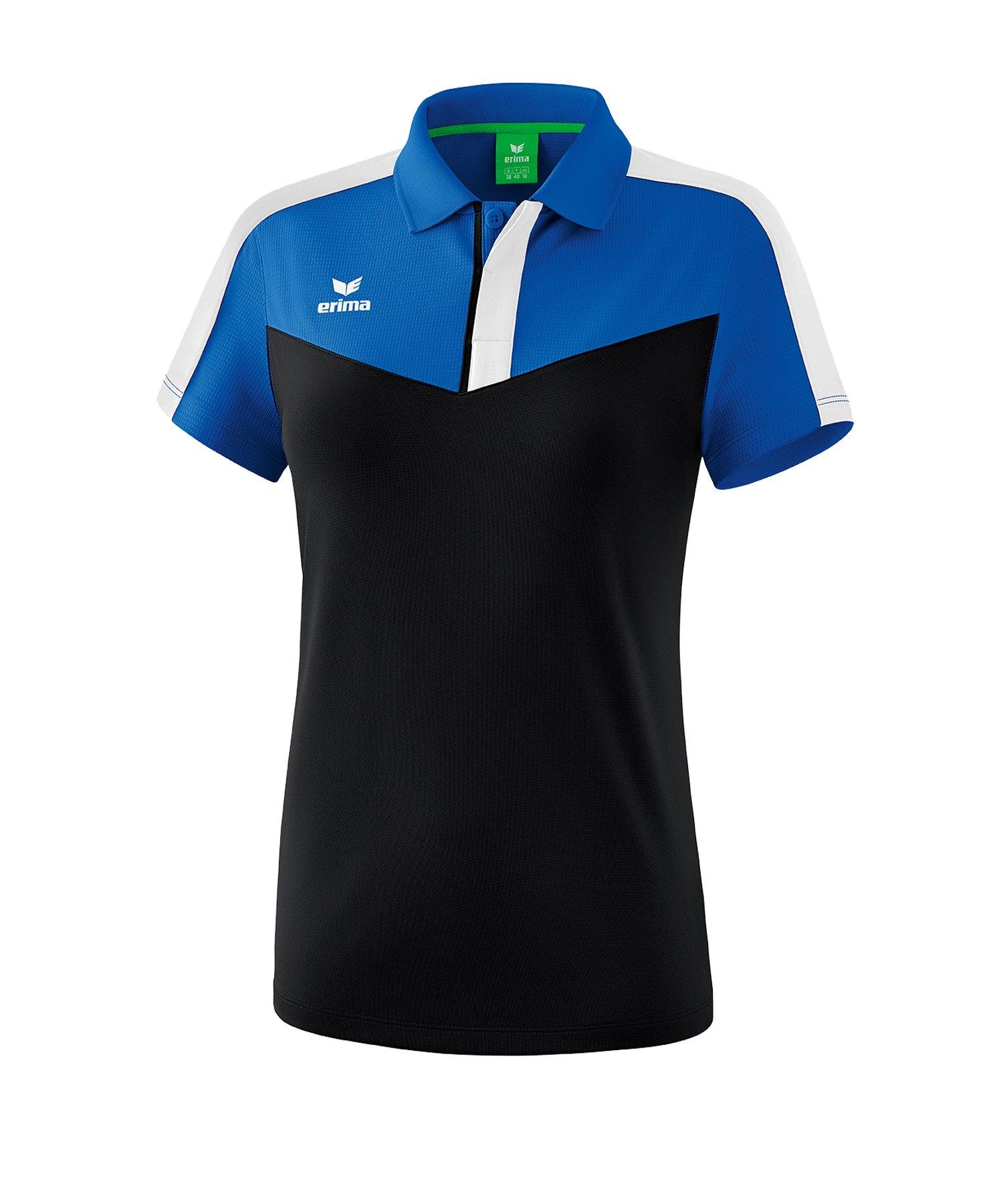 Erima Squad Poloshirt Damen Blau Schwarz - blau